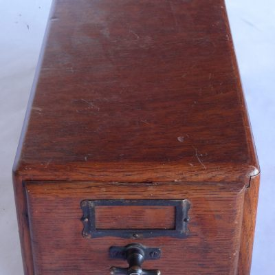 Antique oak card box