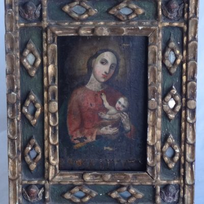 Old painting of Madonna and Child