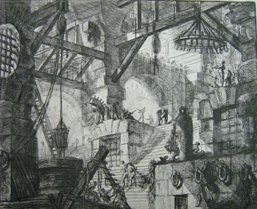 "SOLD $ 600 Giovanni Battista Piranesi (Italy, 1729 - 1778) - etching. ""The Well"". 153⁄4"" 213⁄4""."