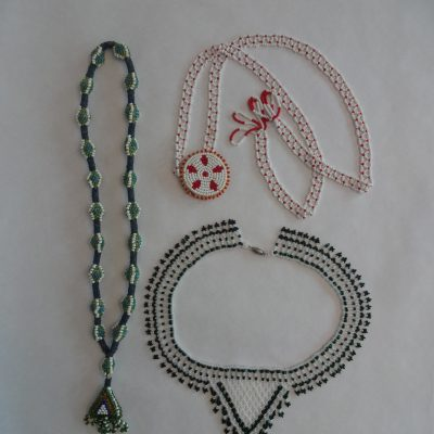 Trio of beaded necklaces