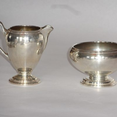 Art Deco sterling cream and sugar