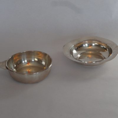 Two sterling silver bowls: Birks and Wallace.