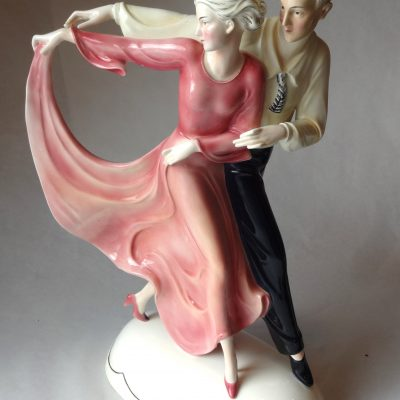 Ceramic figurine of dancing couple