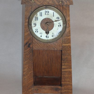Antique arts-and-crafts oa mantle clock