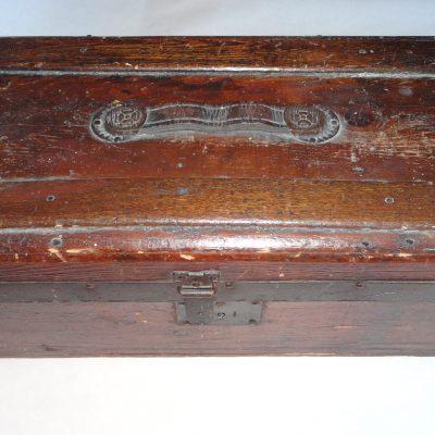 Antique oak traveller's case