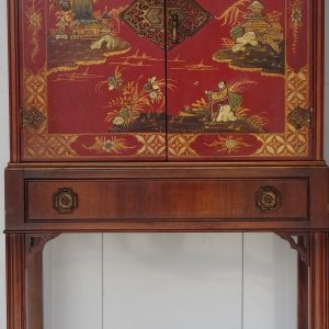 Tall Japanned cabinet