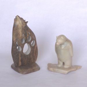 Soapstone wolf and bear