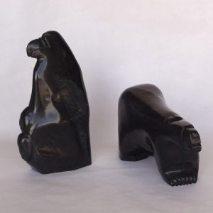 Inuit soapstone carvings