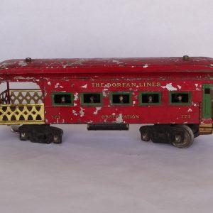Antique train (partial depiction)