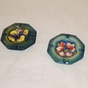 Moorcroft ashtrays