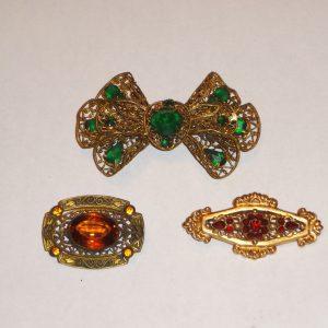 Antique costume jewelry
