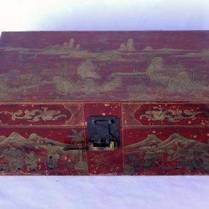 Japanned keepsake box