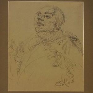 Leo Mol charcoal sketch