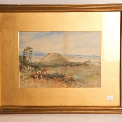 "26   English watercolour - signed   Mcroberts?   ""The tomb of  Achilles"". Dated 1883."