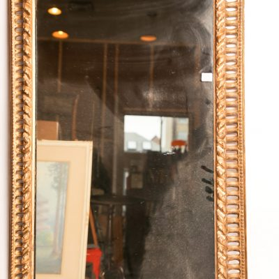 53   Wall mirror - gilt and pierced       plaster frame.   Early 20th  century.