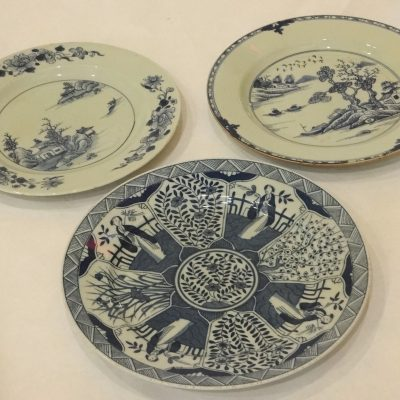 Lots 47, 47A, and 64: Chinese Export porcelain plates, circa 1790.