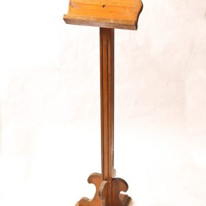 83.  Music stand. Solid wood with fluted column. Mid 20th century.