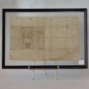 42A. Handwritten letter. From Joseph Weldon to his brother John Weldon. Dated 1813.